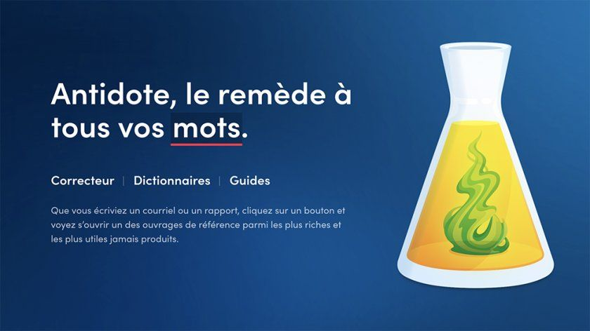 Antidote le remède à tous vos mots et à vos problèmes d'orthographe