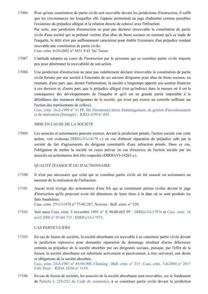 ÉDITIONS FRANCIS LEFEBVRE Définition de laction civile Page2 - Définition de l'action civile qui a permis à RANARISON Tsilavo de se faire attribuer 1.500.000.000 ariary alors qu'il ne peut pas être partie civile par les Editions Francis LEFEBVRE