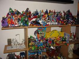 It started with the DC Direct figures on the top shelf