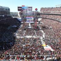 76,976 fans converged on the home of the San Francisco 49ers for WrestleMania 31 (Photo: Business Wire)