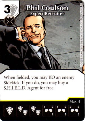 Dice Masters Agent Phil Coulson