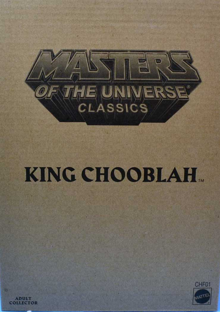 MASTERS OF THE UNIVERSE CLASSICS KING CHOOBLAH FIGURE W// BROWN MAILER CHF01 2014