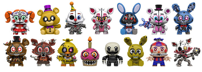 Funko Mystery Minis New Five Nights at Freddy/'s Figurine Select