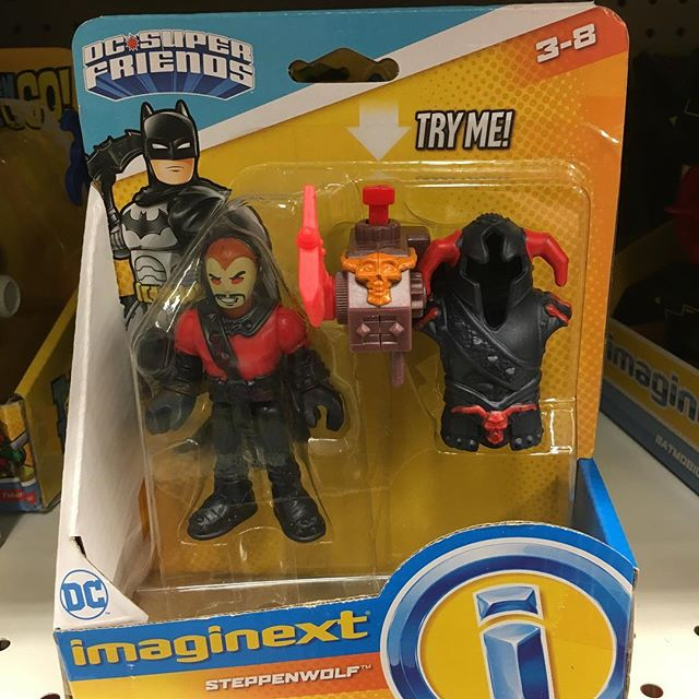 I had not seen the @imaginext figure without his horn hood on... that thing is PURE ! I love it!