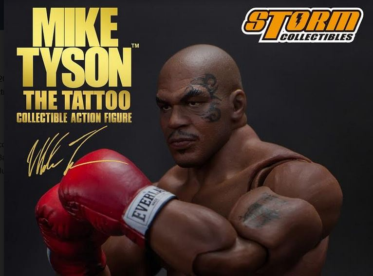 """174e2de33 ... PRE-ORDERS FOR STUNNINGLY LIFELIFE 1/12 SCALE MIKE TYSON """"THE TATTOO""""  FIGURE FROM STORM COLLECTIBLES. January 9, 2019. Fully Poseable 7-Inch  Figure ..."""