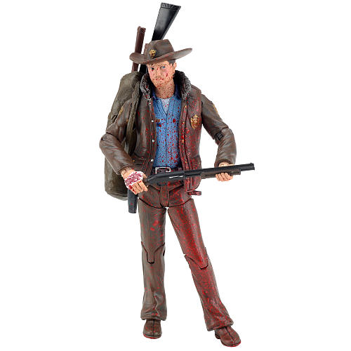 The Walking Dead Comic Series 1 5-inch Action Figure - Blood-Splattered Officer Rick Grimes