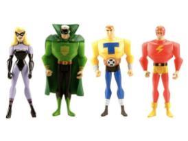 Exclusive JLU Justice Guild Action Figure Four-Pack