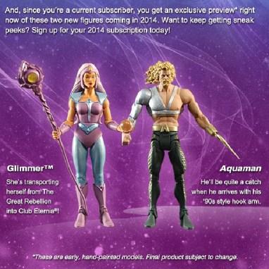 MOTUC Glimmer and DCUC Aquaman