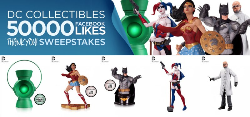 DC Collectibles 50K Likes Sweepstakes