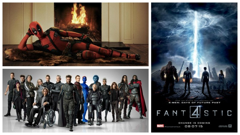 Deadpool, X-Men, and Fantastic Four - Marvel characters licensed by Fox