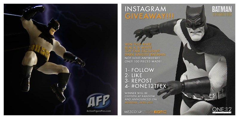 Mezco One 12 Collective Dark Knight Returns Batman Toy Fair exclusive Instagram giveaway