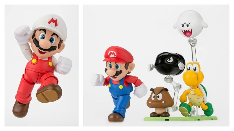 Bandai S.H. Figuarts Super Mario - Fire Mario and Diorama Play Set D