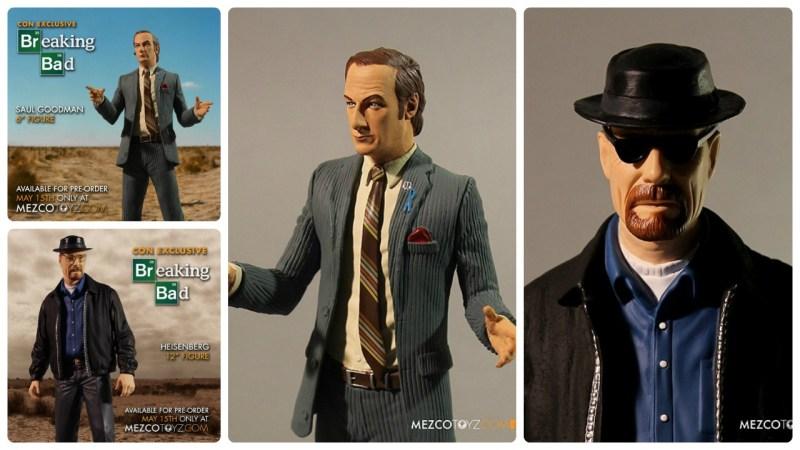 Mezco SDCC 2015 exclusive Breaking Bad Saul Goodman and Heisenberg