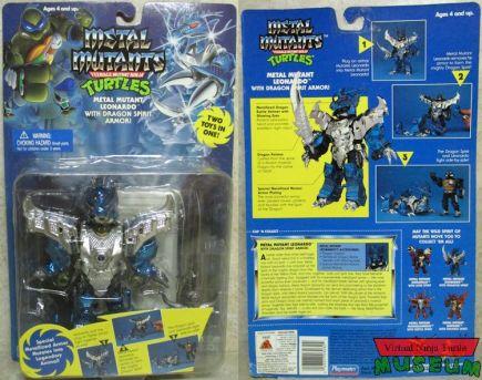 Playmates TMNT Metal Mutants Leonardo 1995 - packaged