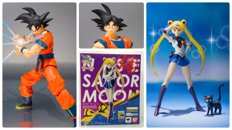 SDCC 2015 SH Figuarts Goku (Frieza Saga) and Nise Sailor Moon exclusives
