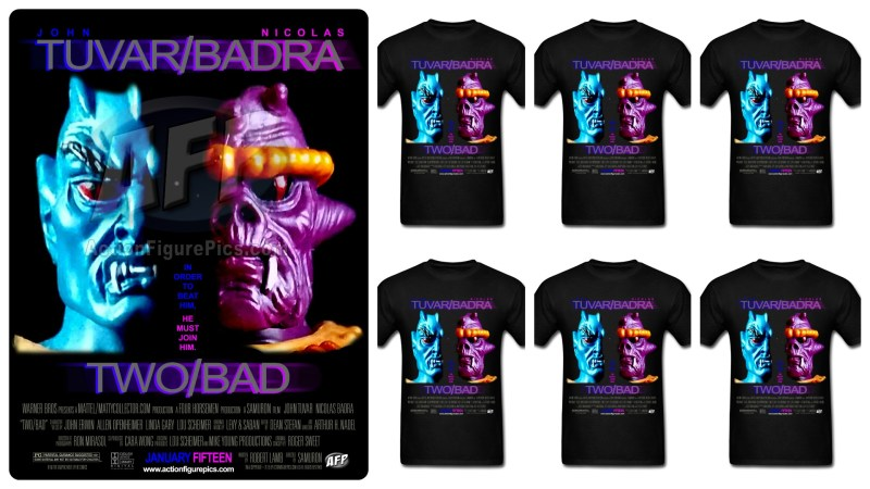 Two-Bad parody movie poster t-shirt