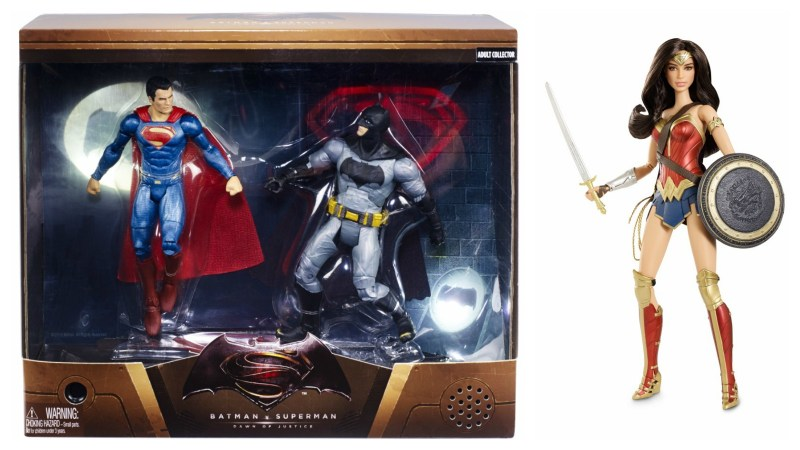 SDCC 2015 Mattel Batman vs Superman 2-pack and Wonder Woman Barbie