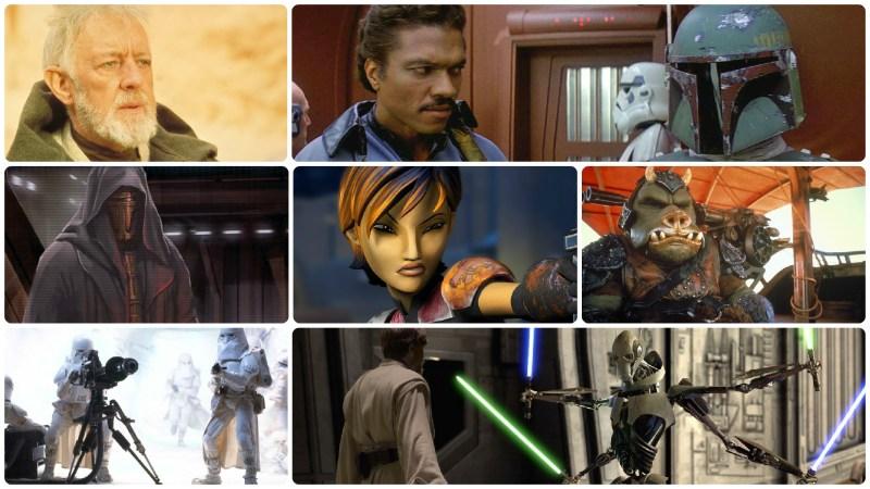 Star Wars Black Series Fans Choice Poll finalists