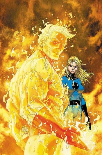 Human Torch and Invisible Woman