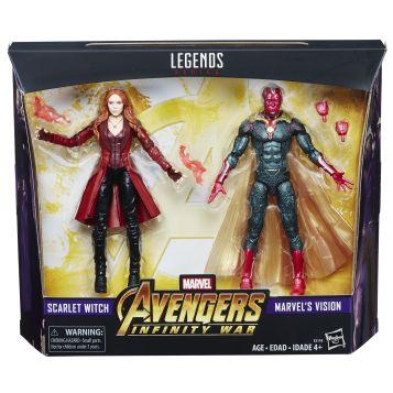 MARVEL AVENGERS INFINITY WAR LEGENDS SERIES 6-INCH Figures (Scarlet Witch & Marvel's Vision) - in pkg