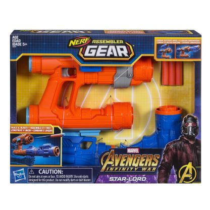 MARVEL AVENGERS INFINITY WAR NERF ASSEMBLER GEAR STAR-LORD - in pkg