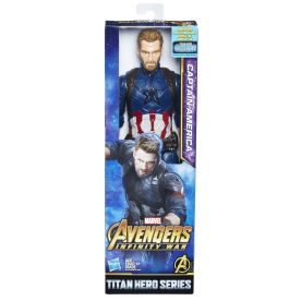 MARVEL AVENGERS INFINITY WAR TITAN HERO 12-INCH Figures (Captain America) - in pkg