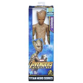 MARVEL AVENGERS INFINITY WAR TITAN HERO 12-INCH Figures (Groot) - in pkg