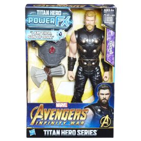 MARVEL AVENGERS INFINITY WAR TITAN HERO 12-INCH POWER FX Figures (Thor) - in pkg