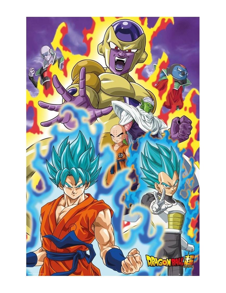 dragon ball super poster pack god super 61 x 91 cm 5 mondo action figure
