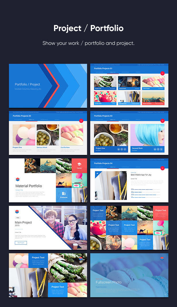 Material PowerPoint Presentation Template - 10