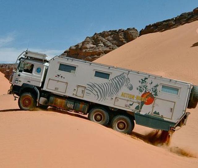 4x4 Motor Home In The Desert