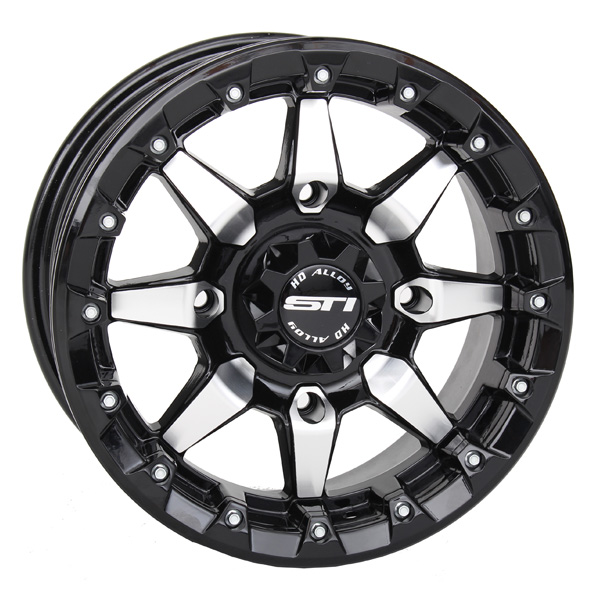 STI HD5 Beadlock Wheel Black Machined