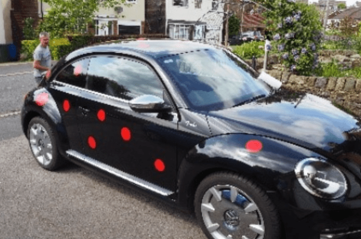 action paint on car