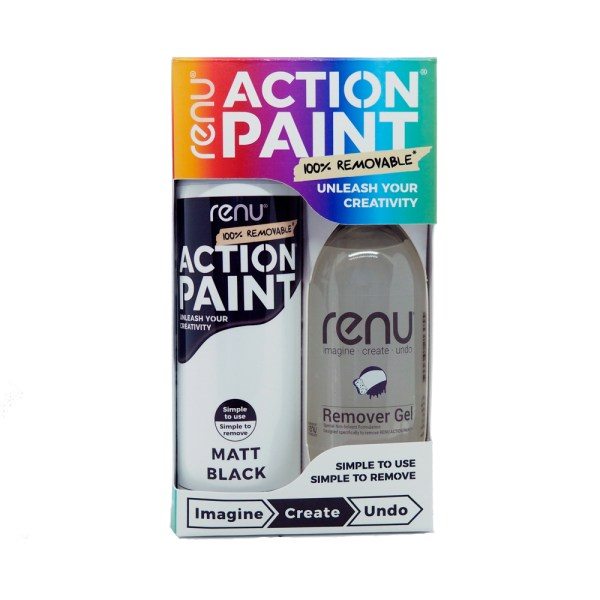 Action Paint Set - Matt Black