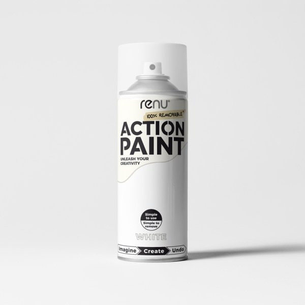 Action Paint - White