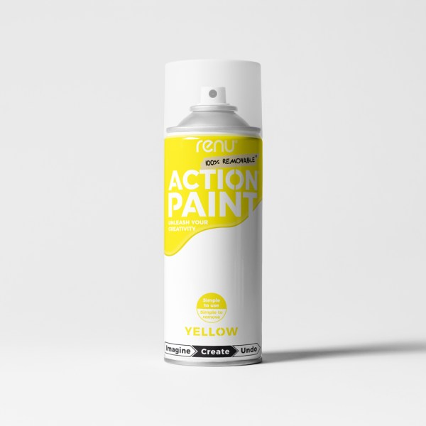 Action Paint - Yellow