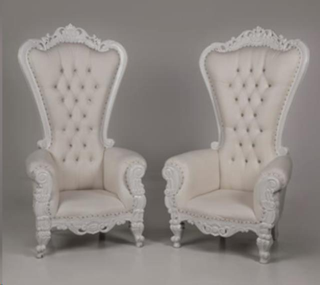 THRONE CHAIR WHITE WITH WHITE TRIM Rentals Allentown PA