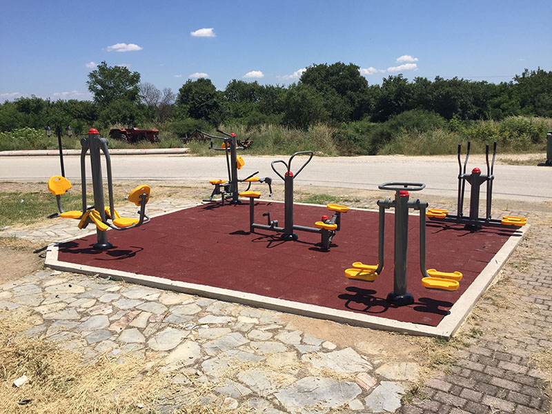 Outdoor fitness equipment in the Municipality of Iasmos