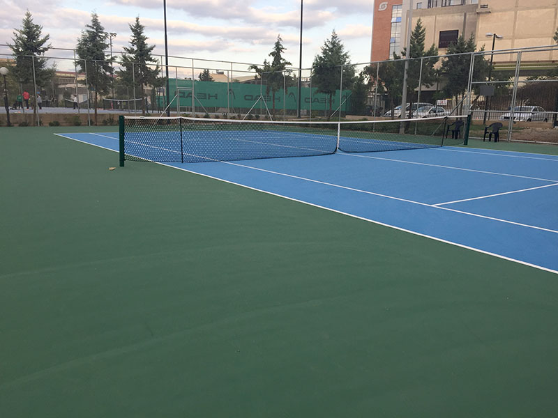 Construction of tennis courts in the Municipality of Peristeri with ITF certification