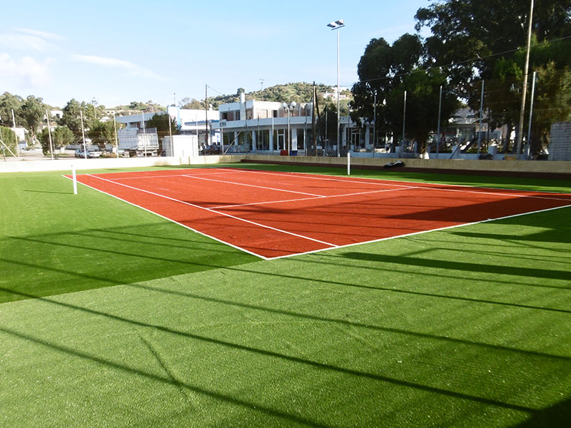 Supply and installaltion of synthetic turf for tennis and 5X5 fields in the Municipality of Leros