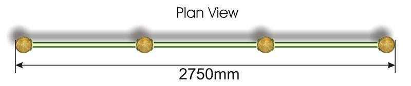 Chin Up Bars plan view