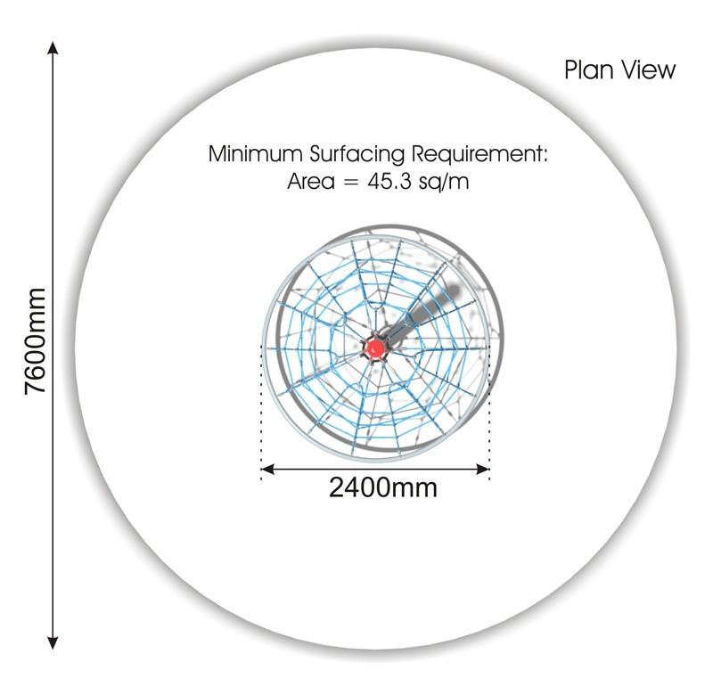 Cone Climber 2.4m plan view