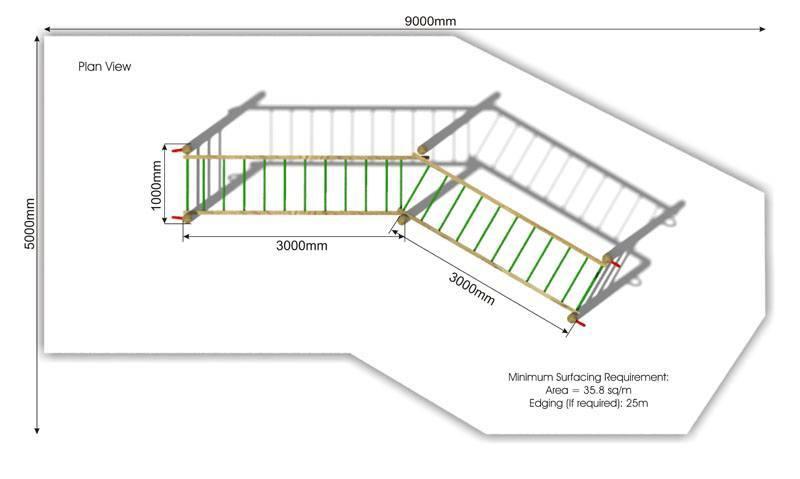 Double Horizontal Ladder plan view