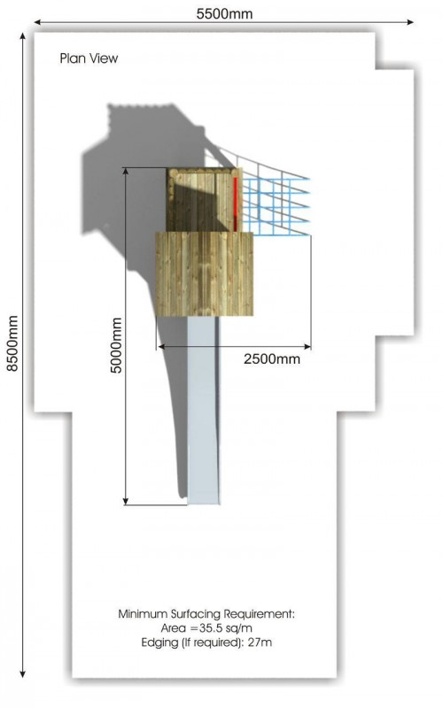 Litcham 1 Play Tower plan view