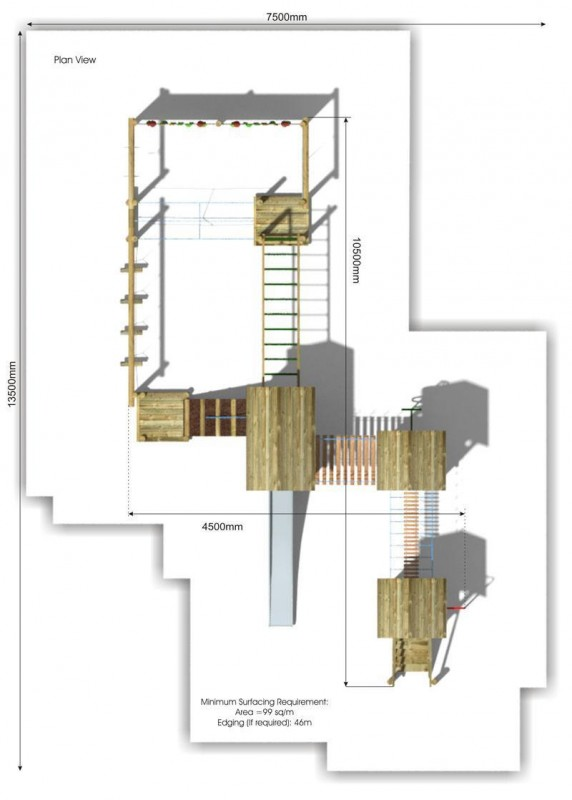 Litcham 5 Play Tower plan view
