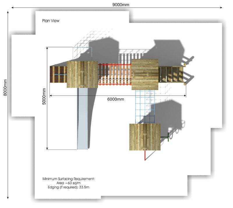 Litcham 6 Play Tower plan view