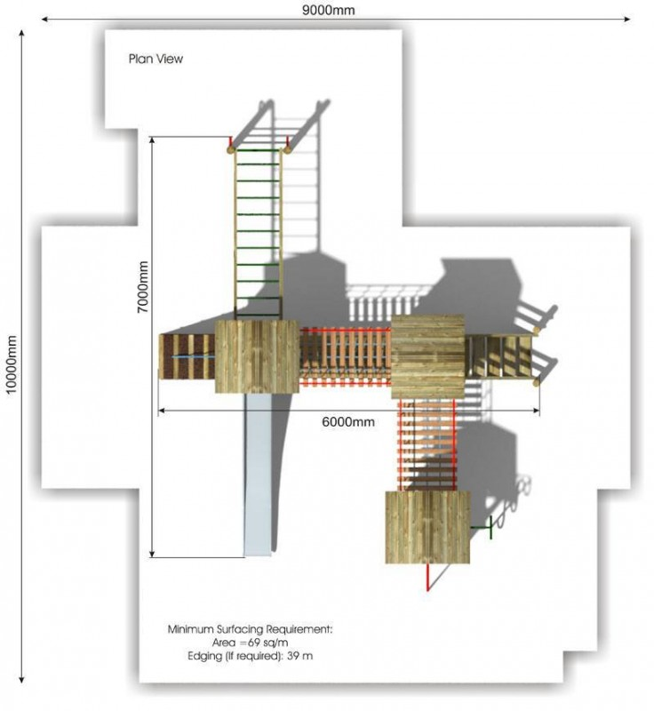 Litcham 7 Play Tower plan view