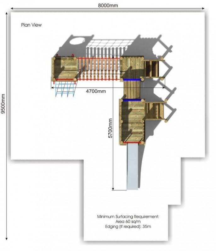 Waxham 4 Play Tower plan view