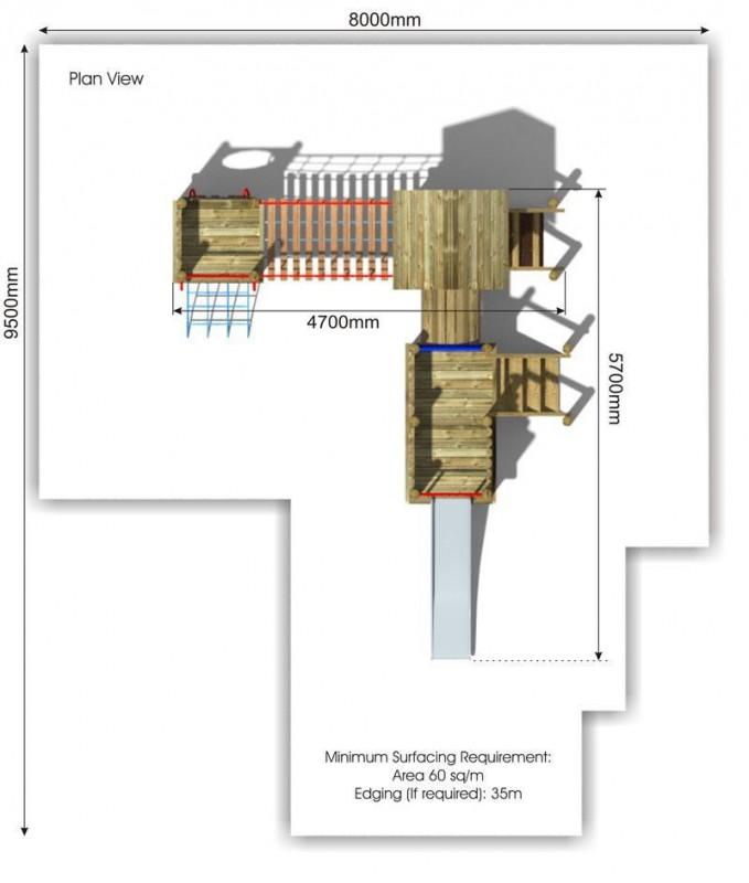 Waxham 6 Play Tower plan view