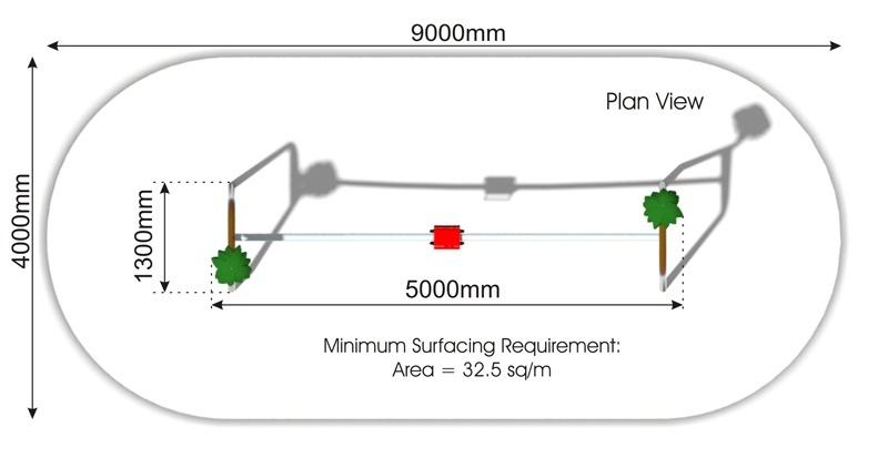 Banzai Park Aerial Runway plan view